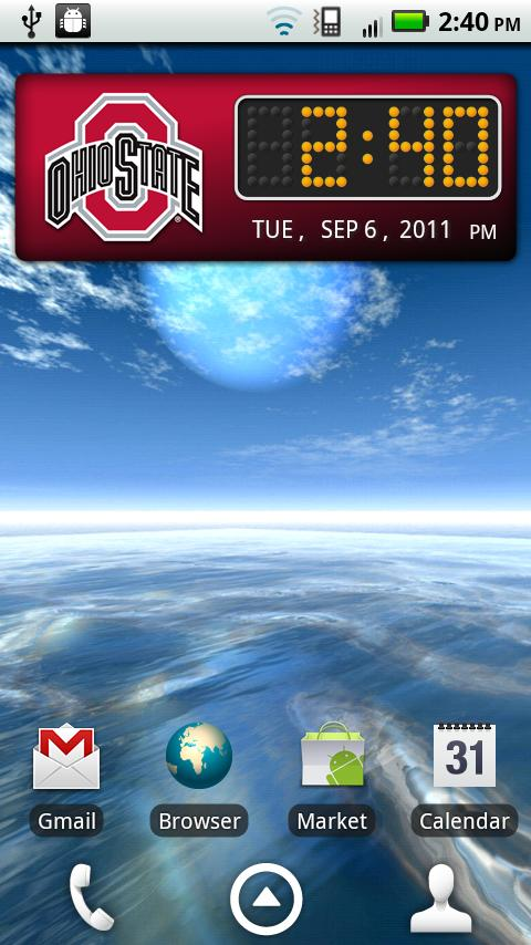 Ohio State Buckeyes Clock- screenshot