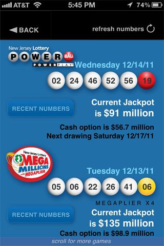 New Jersey Lottery - screenshot