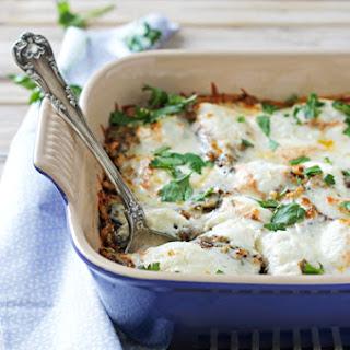 Eggplant Rollatini Quinoa Casserole.