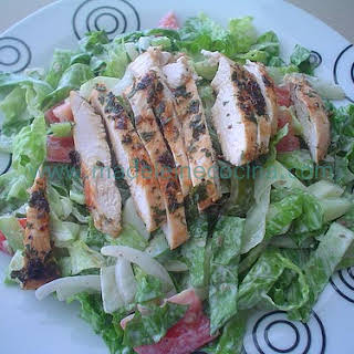 Chicken with Parsley and Hot Sauce Salad.
