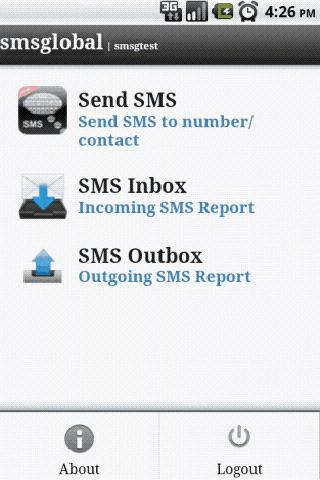 SMSApp by SMSGlobal - screenshot