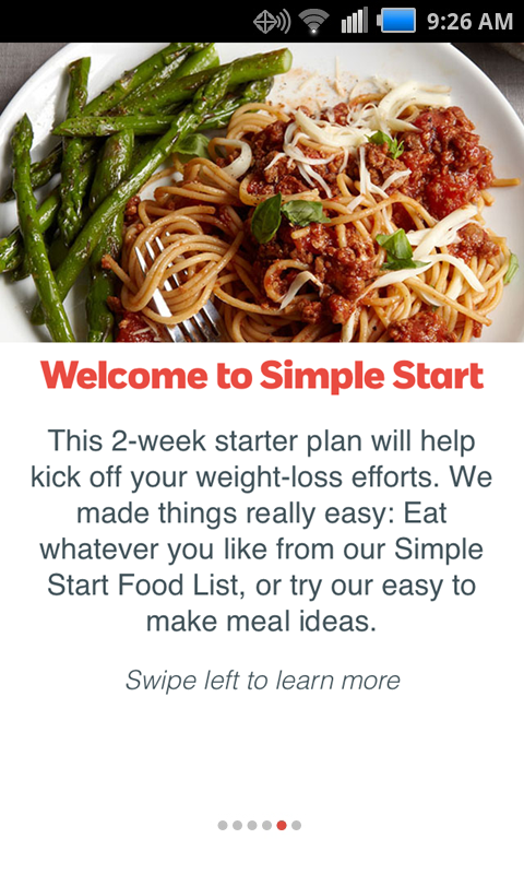 Weight Watchers Simple Start - screenshot