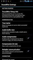 Screenshot of SoundWire (full version)
