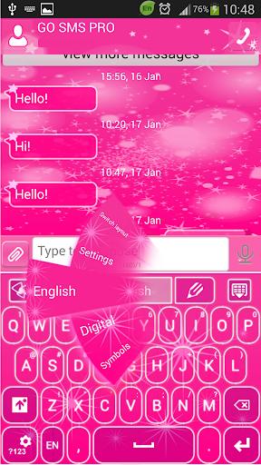 GO SMS Proのピンクスター