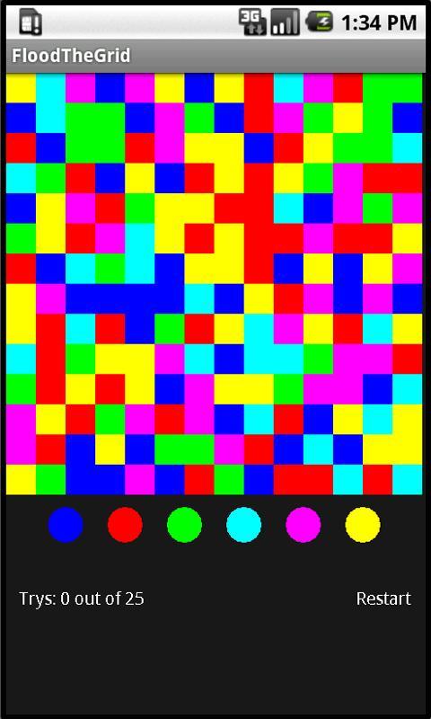 Flood The Grid- screenshot