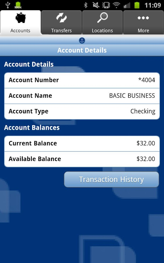 Anchor Bank Mobile Application - screenshot
