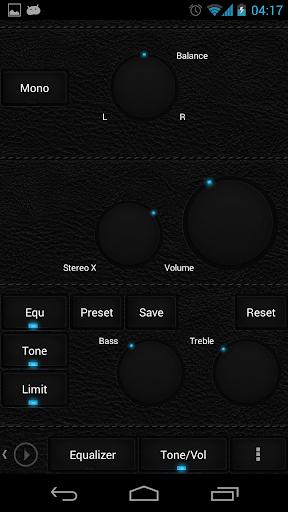 Skin for Poweramp Dark Leather  screenshots 6