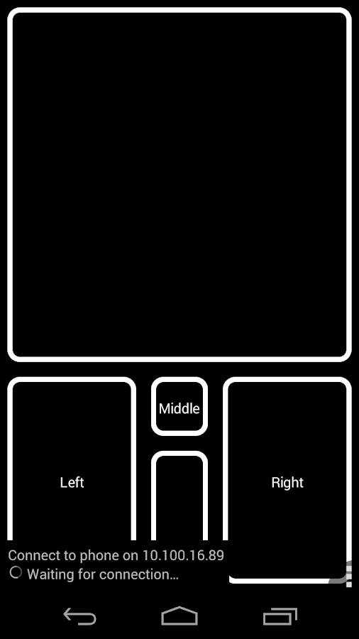 DroidPad: PC Joystick & mouse- screenshot