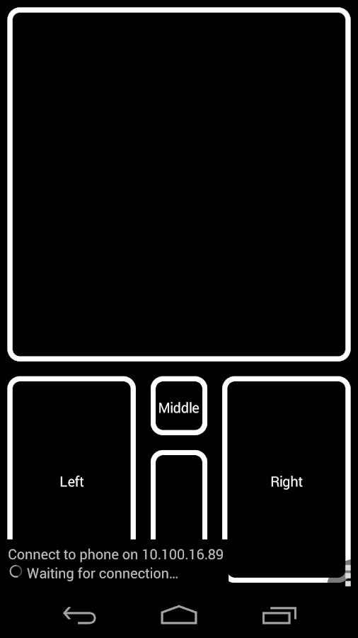 DroidPad: PC Joystick & mouse - screenshot
