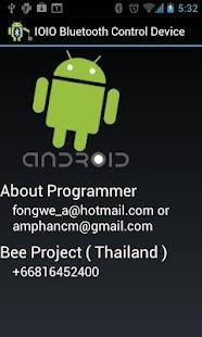 IOIO Bluetooth Device Control- screenshot thumbnail