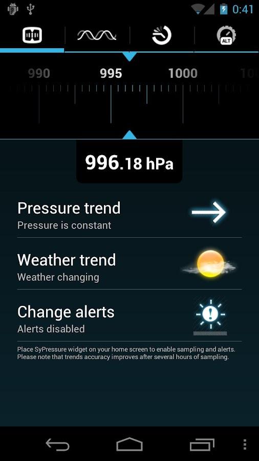 SyPressure (Barometer) - screenshot