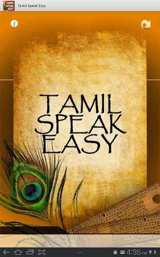 Tamil Speak Easy