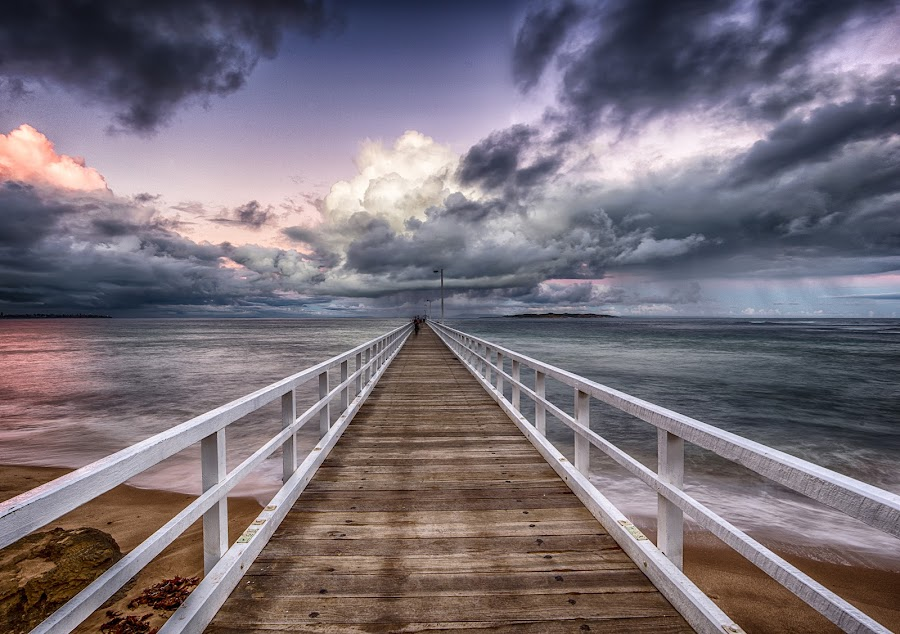 HDR PIER by Alan Wright - Buildings & Architecture Bridges & Suspended Structures