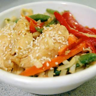 Sesame Chicken Chow Mein