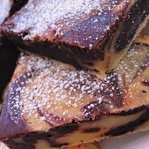 Ricotta Cheese and Chocolate Swirl Squares