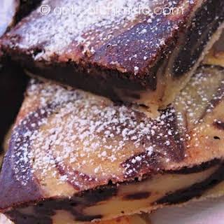 Ricotta Cheese and Chocolate Swirl Squares.