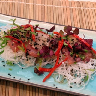 Tuna Sashimi With Kombu Bean Thread Noodles