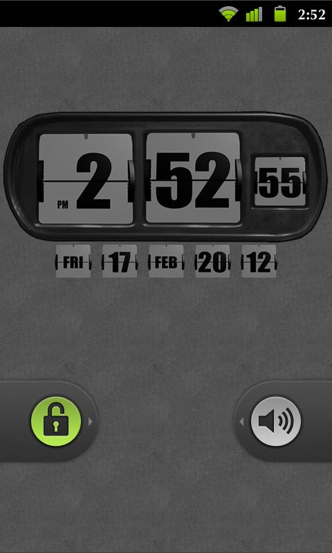 3D Animated Flip Clock WHITE- screenshot