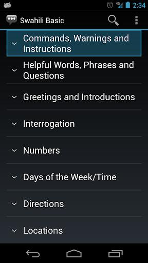 Swahili Basic Phrases