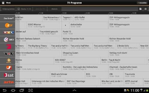 TV Manager für Tablets Screenshot