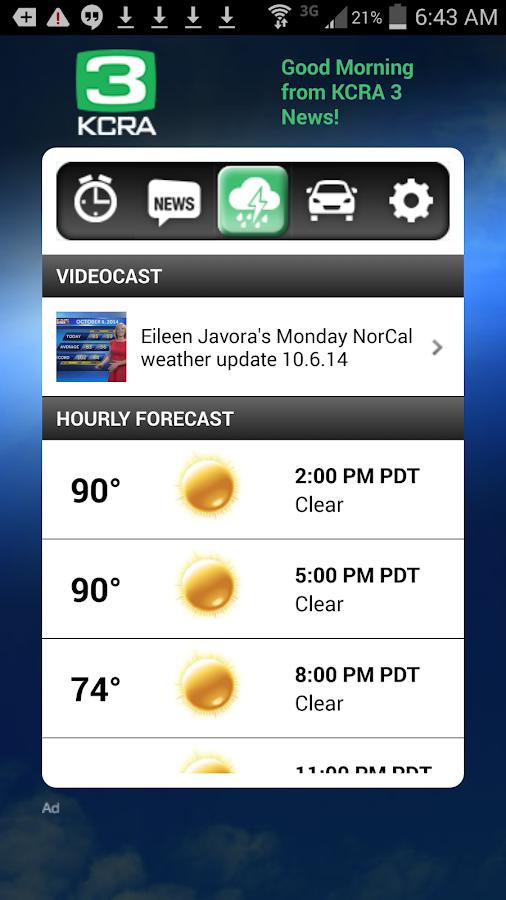 Alarm Clock KCRA 3 Sacramento - screenshot