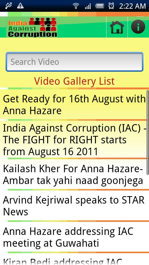 India Against Corruption - screenshot
