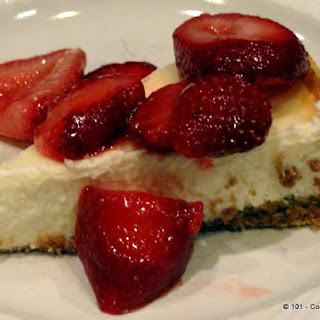 Lower Fat Healthier Cheesecake.