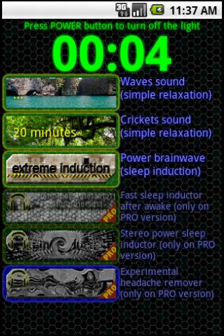 Sleep Inductor Brainwave relax - screenshot