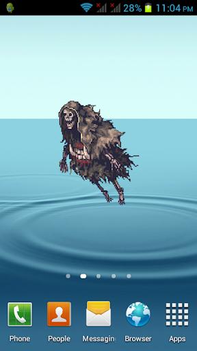 Ghost Skeleton Animated Widget