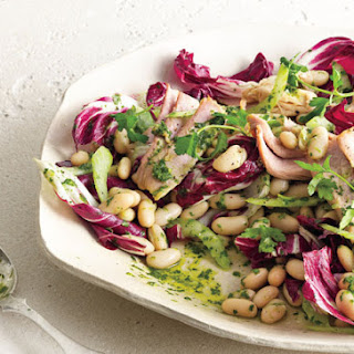 White Bean and Tuna Salad with Radicchio and Parsley Vinaigrette.