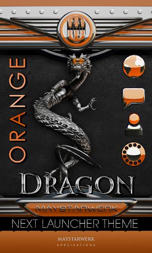 次オレンジ色のテーマのドラゴン NEXT