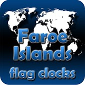 Faroe Islands flag clocks