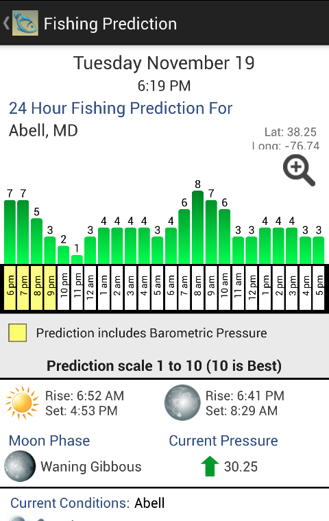 Angler 39 s edge solunar fishing android apps on google play for Solunar fishing forecast