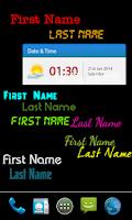 Screenshot of My name live wallpaper