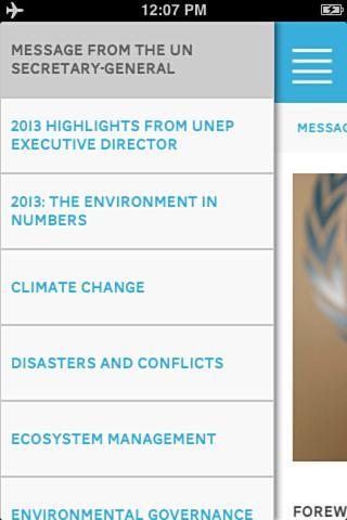 UNEP Annual Report 2013- screenshot