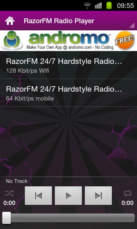 RazorFM Hardstyle Radio App- screenshot
