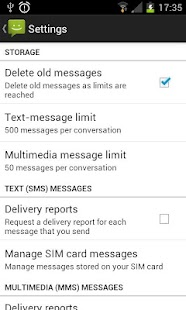 Android 4.1 JB Messaging SMS - screenshot thumbnail