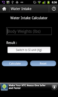 Fitness Calculator - screenshot thumbnail