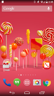 Lollipop Live Wallpaper screenshot