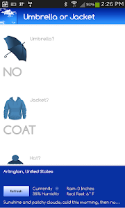 Umbrella or Jacket? screenshot 0