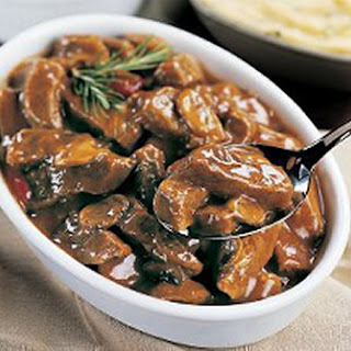 Sirloin Tips With Mushrooms.
