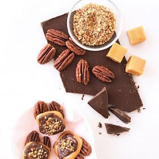 Chocolate-Caramel Pecan Clusters
