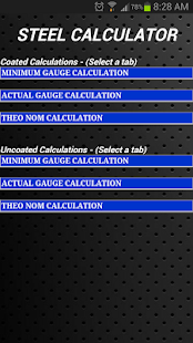 Steel Calculator - screenshot thumbnail