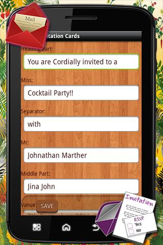 Party Invitation Card- screenshot