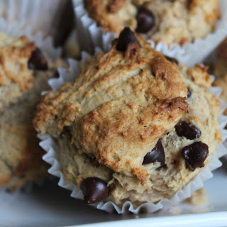 Banana, Peanut Butter and Chocolate Chip Muffins.