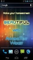 Screenshot of AmazingText Plus - Text Widget