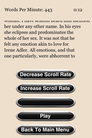 Speed Reading Trainer- screenshot