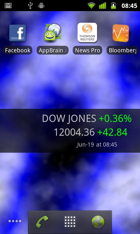 Stocks Tape Widget for Android - screenshot