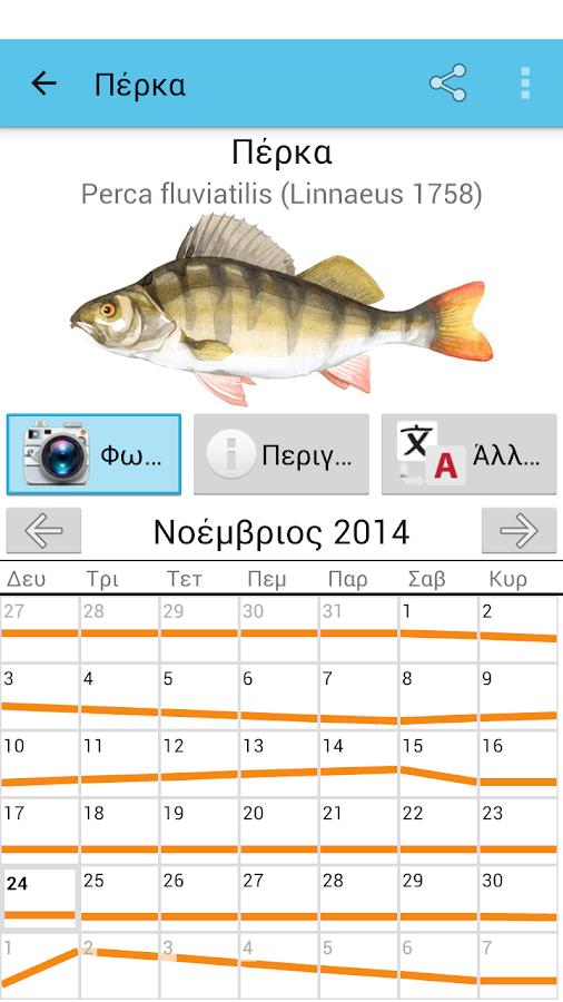 Ημερολόγιο ψάρια - στιγμιότυπο οθόνης