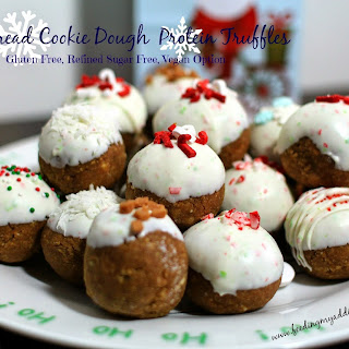 Gingerbread Cookie Dough Protein Truffles
